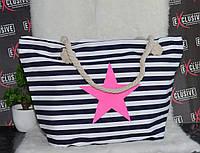 Большая пляжная сумочка с канатными ручками., фото 1