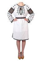 Вишите плаття на домотканому полотні з ручною вишивкою, фото 1