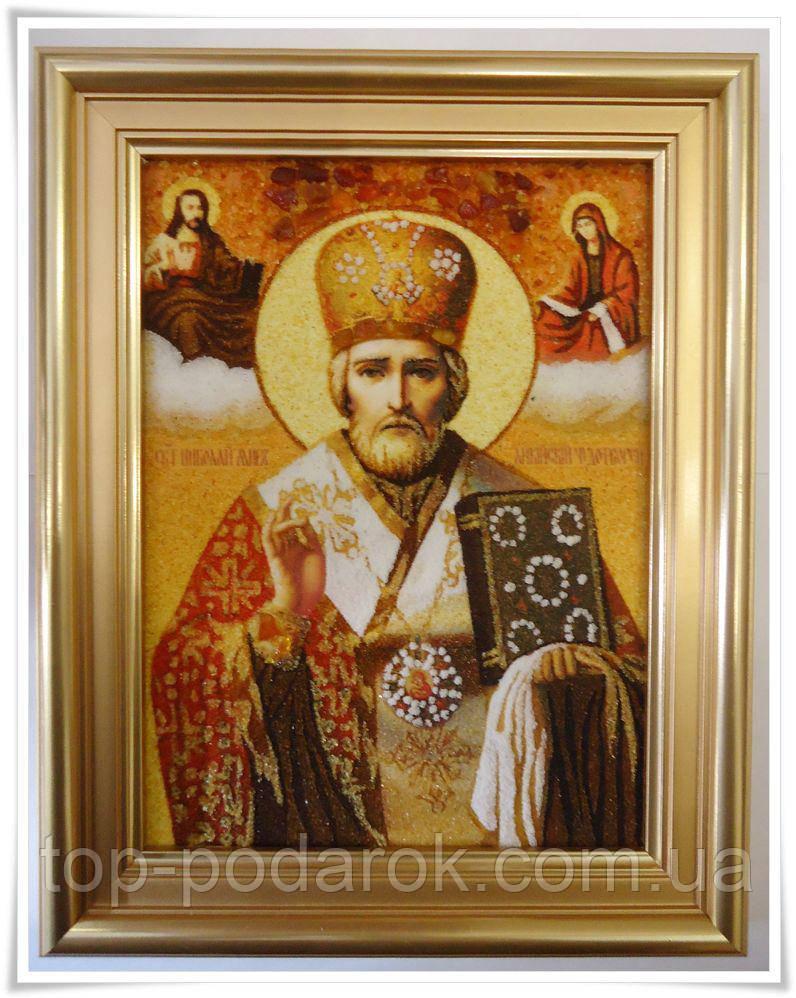 Ікона з янтаря іменна Микола іі-98