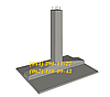 Фундаменты под металические опоры линий электропередачи ФС1-4