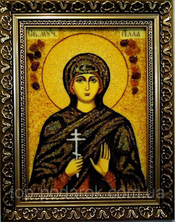 Ікона з янтаря іменна Алла іі-06