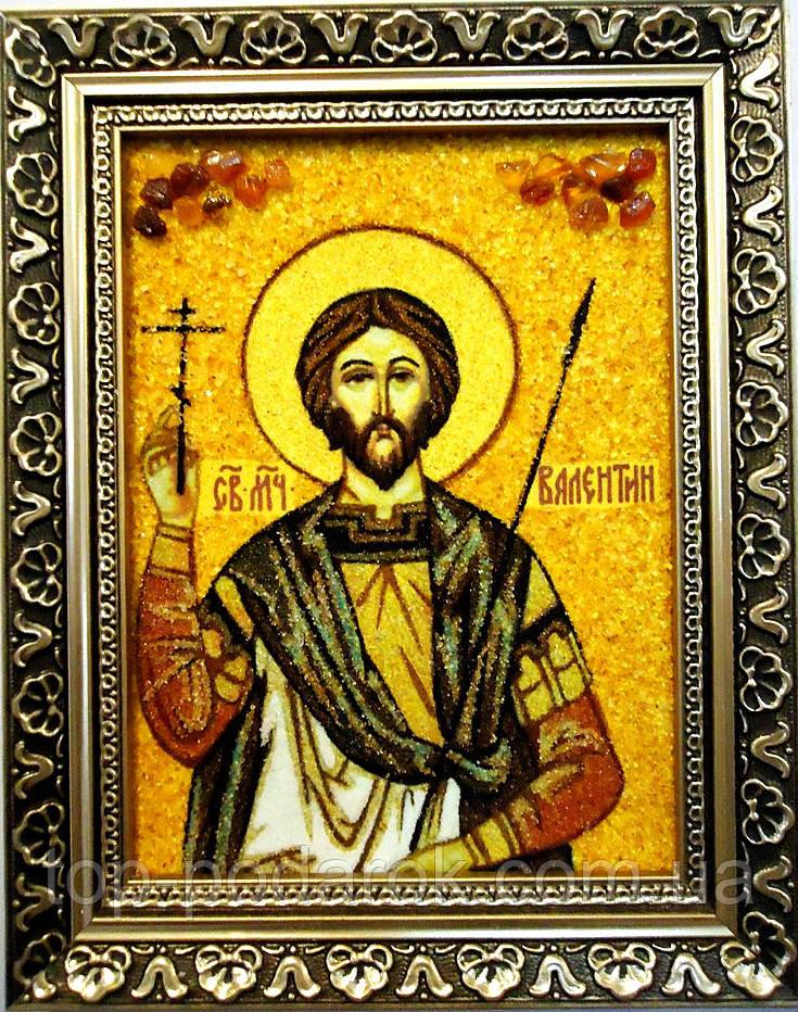 Икона из янтаря именная Валентин іі-17