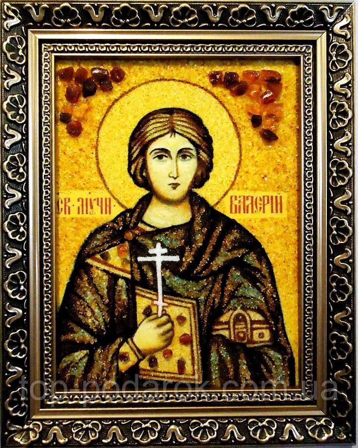 Ікона з янтаря іменна Валерій іі-19