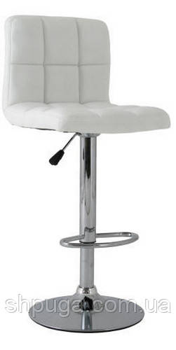 Стул  Даниэль, высокий барный стул ,  экокожа  белый