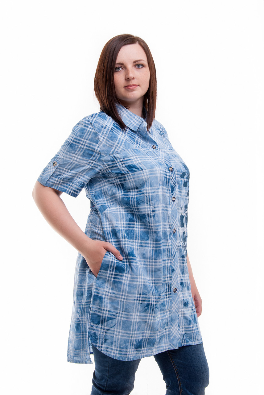 b10fcbe0c8a Женская Туника Рубашка Большие размеры - Модная женская одежда от производителя  ОПТОМ И В РОЗНИЦУ в