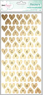 Алфавіт - Fine & Dandy - Foil - Sparkling - Gold Hearts (140 Piece)