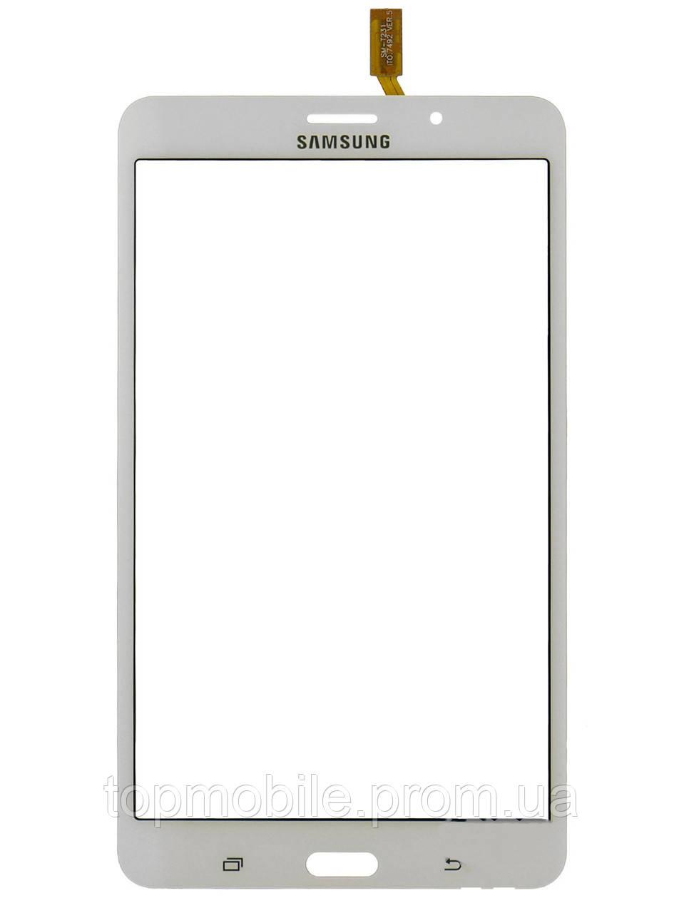 "Сенсор Samsung T230 Galaxy Tab 4 7.0""/T235, версия Wi-Fi, белый, оригинал (Китай)  ( стекло, тачскрин)"