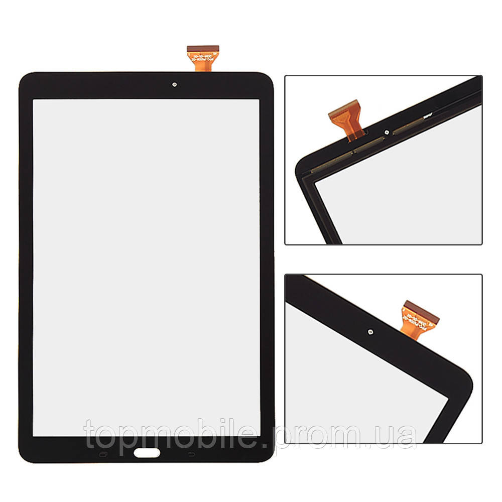 "Сенсор Samsung T560 Galaxy Tab E 9.6""/T561/T567, черный ( стекло, тачскрин)"
