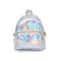 Серебристый маленький голограммный рюкзак