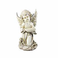 Ангел с пиалой светящийся 34 см