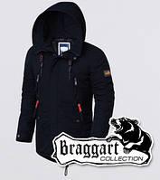 Мужская куртка комфортная Braggart 3587 т.синий-оранжевый, фото 1