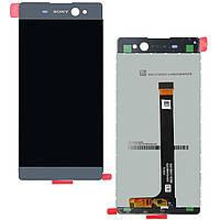 Модуль Sony F3111 Xperia XA/F3112/F3113/F3115/F3116  серый, Graphite Black (стекло, экран, дисплей)