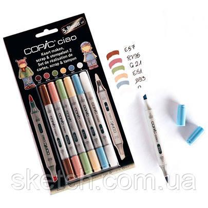 "Набір маркерів Copic Ciao Set ""5+1"" Scrap & Stamping 2"