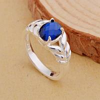 Шикарное женское кольцо с сапфиром р 17,5