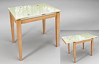 Тореро стол Sentenzo раздвижной 800-1200х750х650 мм стекло-дерево, фото 1