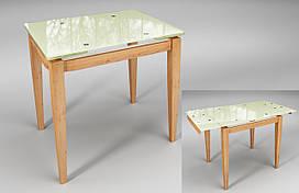 Тореро стол Sentenzo раздвижной 800-1200х750х650 мм стекло-дерево