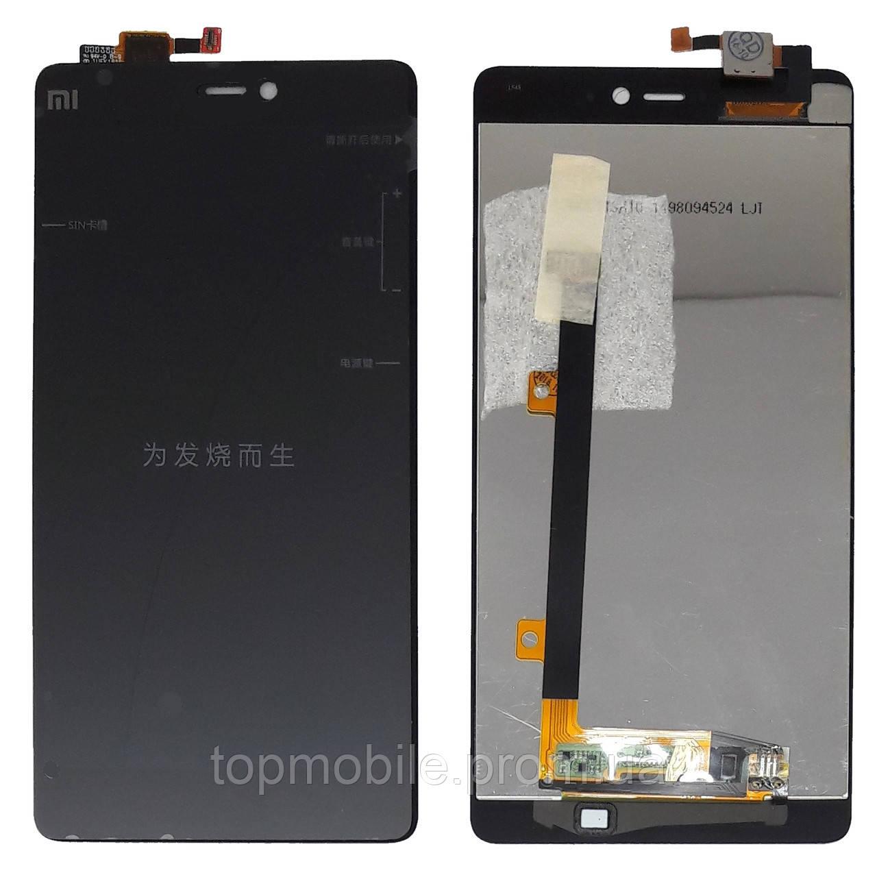 Модуль Xiaomi Mi4i  черный (стекло, экран, дисплей)