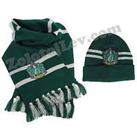 Комплект шарф и шапка Слизерин