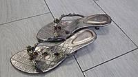 Женские шлепанцы на каблуке со стразами 36, 36, 37, 37, 38, фото 1