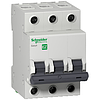 "Автоматический выключатель Schneider Electric 3P, 20А, Х-КА ""B"" Easy9"