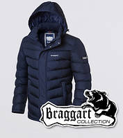 Мужская зимняя куртка на тинсулейте Braggart 4382 синяя