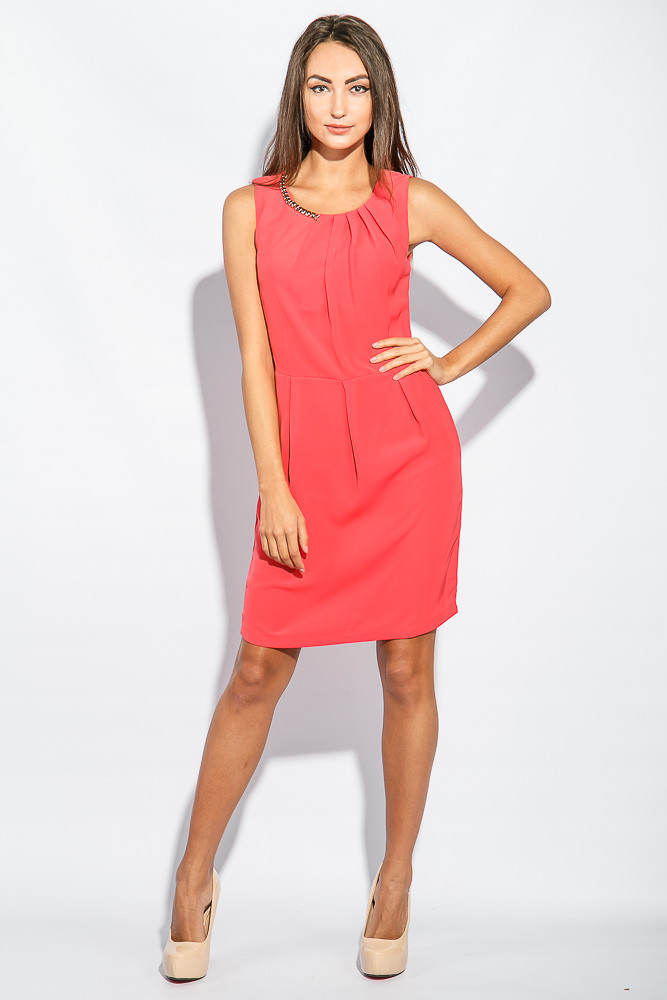 Платье женское приталенный крой 964K002 (Коралловый)