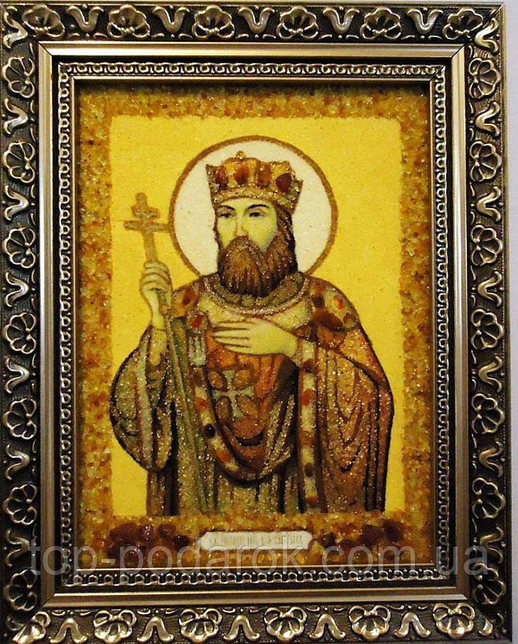 Ікона з янтаря іменна Костянтин іі-70