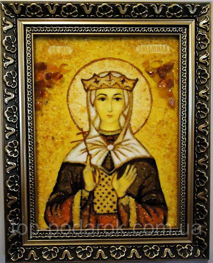 Ікона з янтаря іменна Людмила іі-79