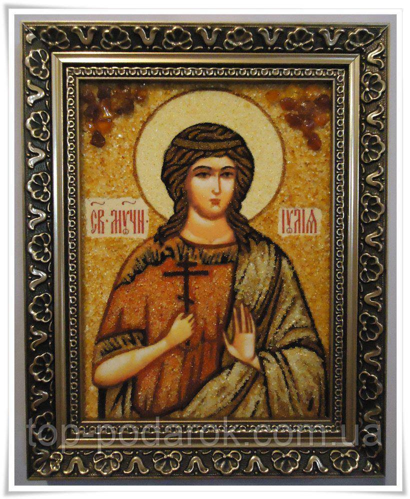 Икона из янтаря именная Юлия іі-142