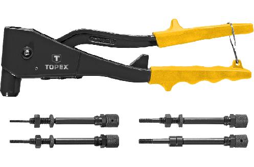 Заклепочник для установки резьбовых заклепок M3, M4, M5, M6, TOPEX 43E110, фото 2