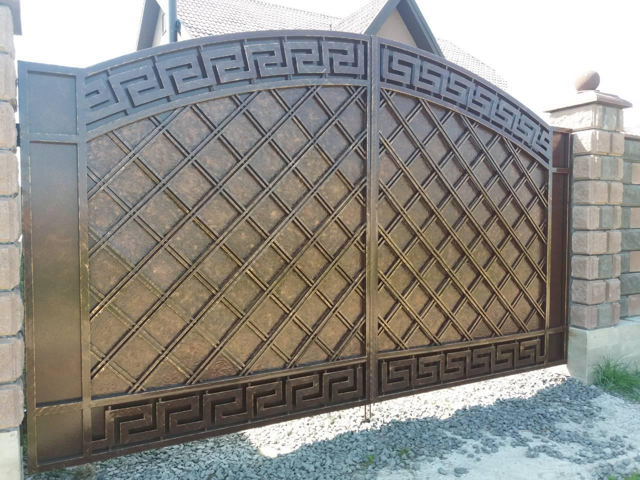 Ворота  ковані Янки