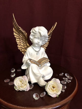 """Ангел """"С книгой"""", золото, фото 2"""