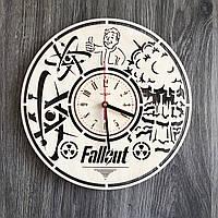 Часы из натурального дерева настенные по мотивам «Fallout»