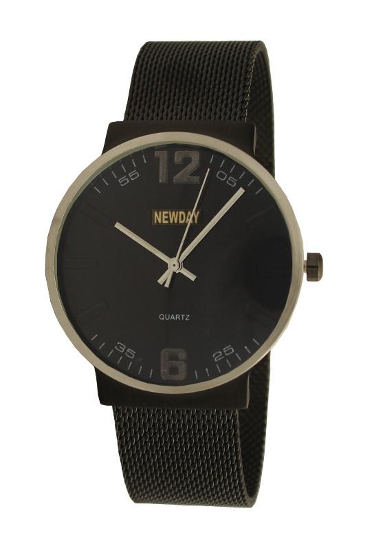 Часы NewDay мужские наручные на плетеном браслете.