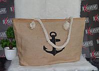 Женская пляжная сумка Якорь, фото 1