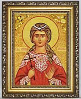 Икона из янтаря именная Любовь іі-188