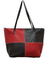 "Стильна жіноча сумка ""4 в 1"" P160 (чорно-червона)"