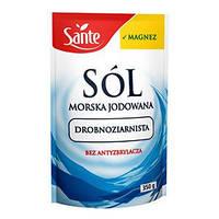 Sante Морская йодированная соль мелкозернистая