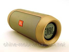 JBL Charge2+ E2 10W копия, Bluetooth колонка FM MP3, золотая, фото 2