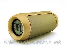 JBL Charge2+ E2 10W копия, Bluetooth колонка FM MP3, золотая, фото 3
