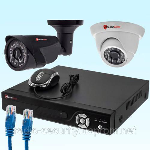 Комплект IP відеоспостереження NVR-KIT2104 - 1 indoor-outdoor