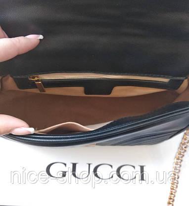 Сумочка  Gucci  черная, эко-кожа, фото 3