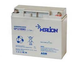 Аккумуляторная батарея MERLION AGM GP1218M5 12 V 18 Ah ( 180 x 78 x 165 (168)) 4,6 кг