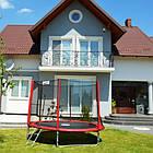 Батут Atleto Mip 312 см (10 ft) с двойными ногами, сетка + лестница, фото 3