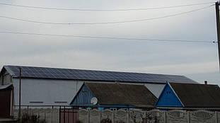 Марьянское солнечная электростанция сетевая под зеленый тариф 35,6 кВт Днепропетровская обл. 13
