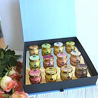 """Подарок для мамы набор крем-меда """"12 вкусов меда"""""""