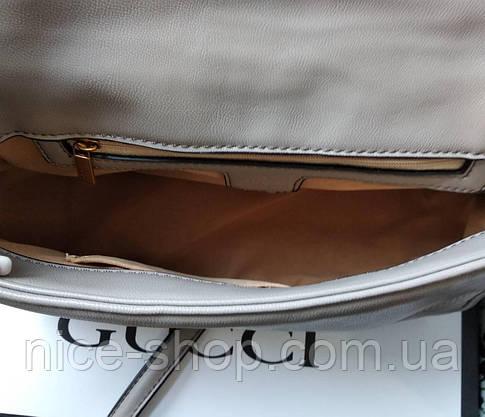 Сумочка  Gucci  серая, эко-кожа, фото 3