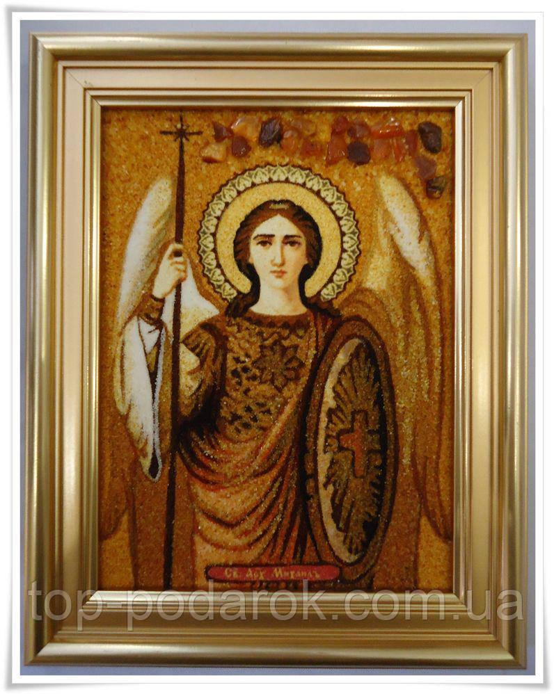 Икона из янтаря именная Михаил іі-91