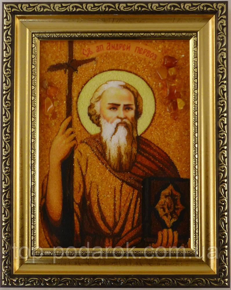 Икона из янтаря именная Андрей іі-08