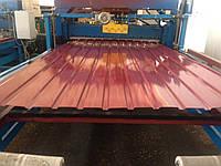 Двухсторонний вишневый профнастил РАЛ 3005